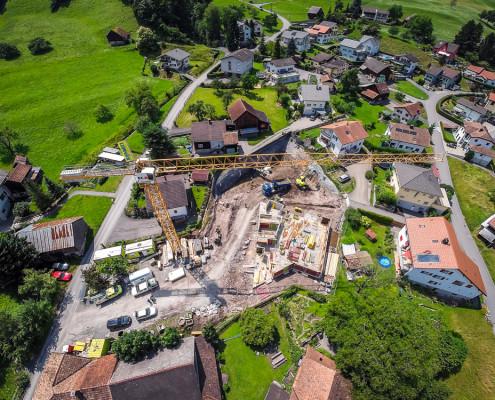 Luftaufnahme Baustelle Oberbünte